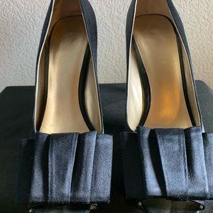 Black Nine West satin dress heels